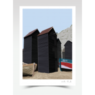 Hastings Net Huts (Print)