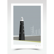Black Lighthouse Dungeness (Print)