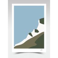 Cliff-top Sea View (Print)
