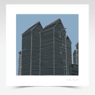 Hastings Net Huts (420 x 420mm print)