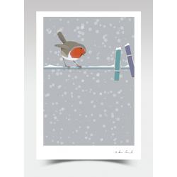"""Inspector Frost"" - Robin (Print)"