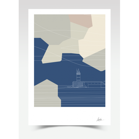 Newhaven Lighthouse Abstract (Print)