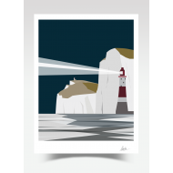 Beachy Head Lighthouse - Night (Print)