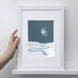 A4 Frame: Cuckmere Haven Print