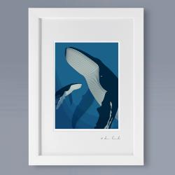 A4 Frame: Deep Blue Print
