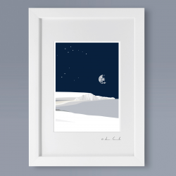 A4 Frame: Starry Night Seven Sisters Print