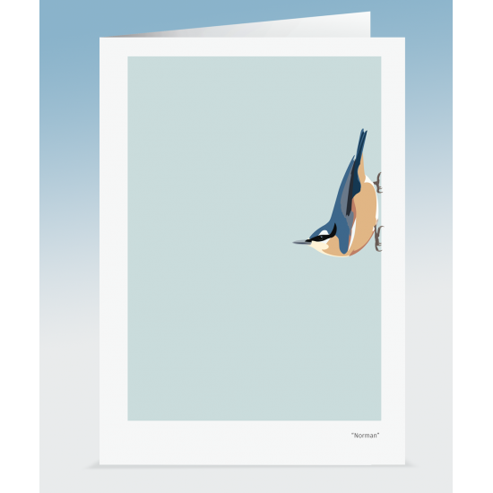"""""""Norman"""" - Nuthatch (Card)"""