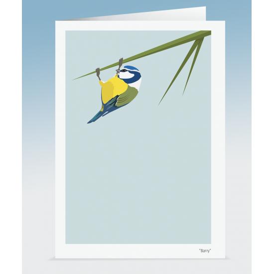 """Barry"" - Blue Tit (Card)"