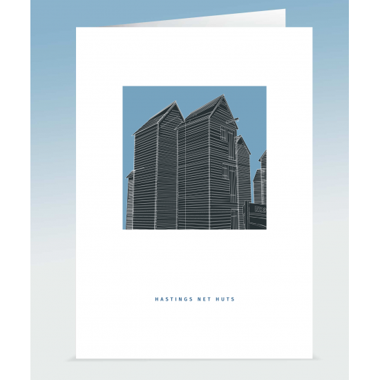 Hastings Net Huts Blue (Card)