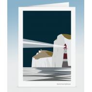 Beachy Head Lighthouse - Night (Card)