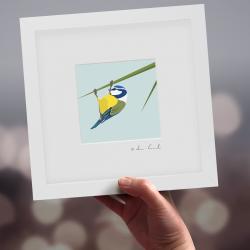 "Framed Mini ""Barry"" - Blue Tit"