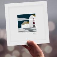 Framed Mini Beachy Head Lighthouse - Night