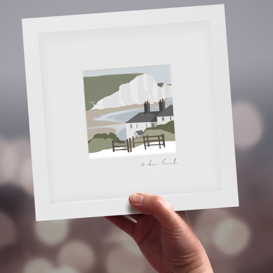 Framed Mini Coast Guard Cottages