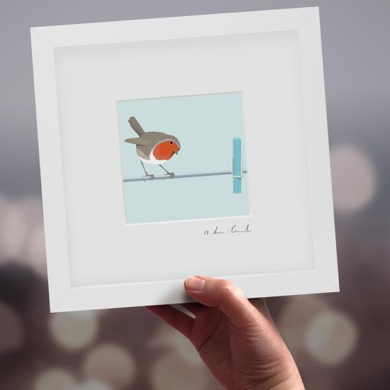 "Framed Mini ""Inspector"" - Robin"