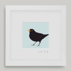 "Framed Mini ""Brian"" - Blackbird"