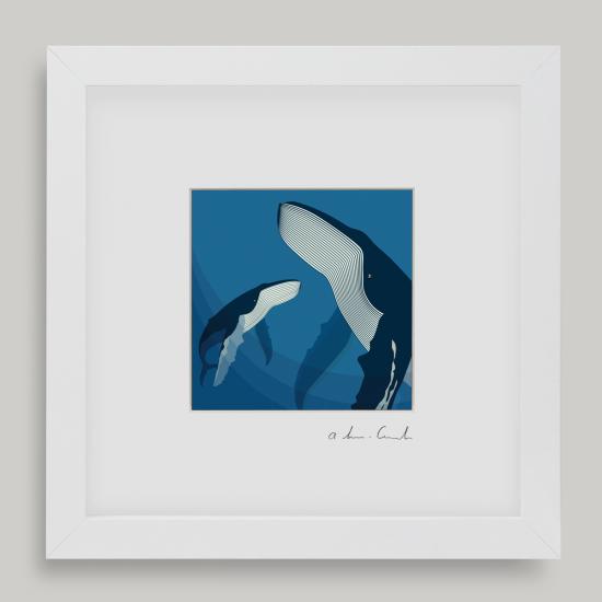 Framed Mini Deep Blue