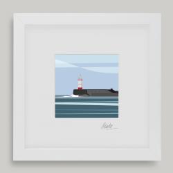 Framed Mini Newhaven Lighthouse
