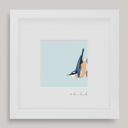 "Framed Mini ""Norman"" - Nuthatch"
