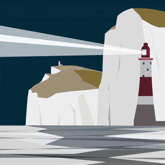 Beachy Head Lighthouse - Night (Print)